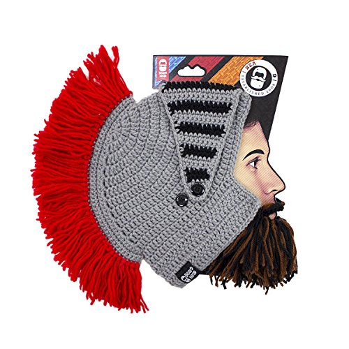 3959f97cd58 Beard Head Knight Beard Beanie - Funny Knitted Helmet and Fake - Import It  All