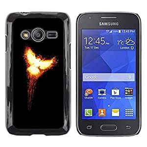 LECELL -- Funda protectora / Cubierta / Piel For Samsung Galaxy Ace 4 G313 SM-G313F -- Flaming Phoenix 2 --