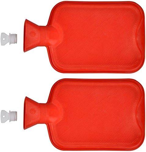 2x Wärmflasche aus Gummi 2 Liter Wärmeflasche Wärmekissen Wärme Flasche Bettflasche