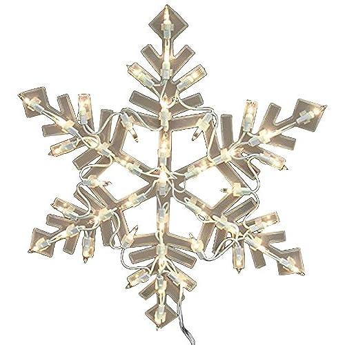 impact 16 lighted snowflake christmas window silhouette decoration - Christmas Window Decorations Amazon