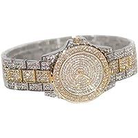 Smalody Luxury Women Watch Crystal Rhinestone Diamond Watches Ladies Dress Stainless Steel Wristwatch (Mix)