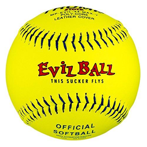 1 Dozen Evil Ball Trump MP-EVIL-44-MAX-Y 12 Inch 44 cor. 525+ comp Yellow Leather (Evil Leather Softballs)