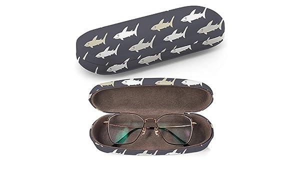 Art-Strap Caja protectora de gafas con funda rígida y gamuza de limpieza, se adapta a la mayoría de gafas y gafas de sol (tiburón): Amazon.es: Ropa y accesorios