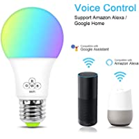 XCSOURCE B22 WiFi Smart Bulb Wireless Remote Control Light Dimmable Color Changing Lamp for Alexa Google Home IFTTT LD1586