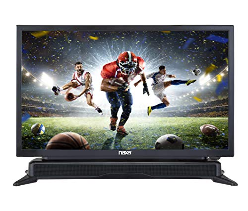NAXA Electronics NTD-2460 24-inch 720p HD Class LED TV with Built-in Sound Bar & DVD Player