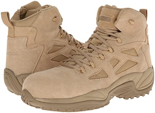 Reebok Work Men's Rapid Response RB8694 Safety Boot,Tan,12 M US