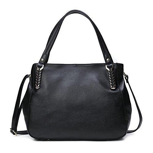 A 35 Morbida Hgdr Pelle Tracolla Black Borse Grandi 27cm Per 12 Donna Capacità black In Borsa gf5xpH