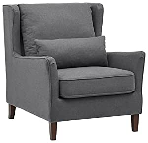 Stone U0026 Beam Sascha Wingback Removable Cushion Chair, 35u0026quot; ...