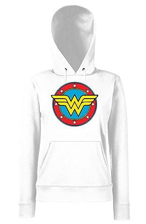 835068343bbfb TRVPPY - Sweat Pull à Capuche, modèle Wonderwoman - Femme, différentes  Tailles et Couleurs