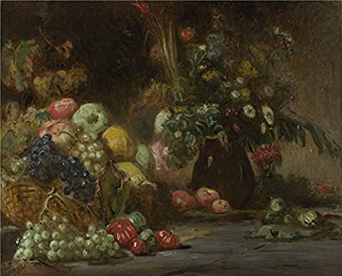The Polyster Canvas Of Oil Painting 'Pierre Andrieu Still Life With Fruit And Flowers ' ,size: 18 X 22 Inch / 46 X 57 Cm ,this High Definition Art Decorative Canvas Prints Is Fit For Study Artwork And Home Artwork And - Alfred Gockel Flowers