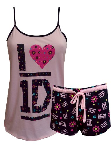 1D I Love One Direction Shortie Pajamas for women (X-Small)