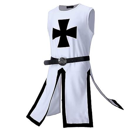 Wtter Hombres Caballeros Medievales Templario Cruzado Traje ...