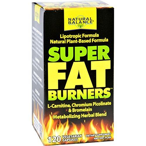 Natural Balance Super Fat Burners Vegetarian Capsules, 120 Count
