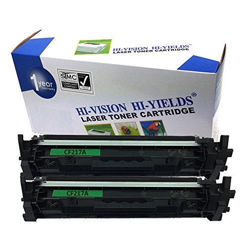 HI-VISION 2 Pack Remanufactured Toner Cartridge Replacement for HP 17A [CF217A] Black Laserjet Pro M102w, M130fn, M130fw (NO CHIP)