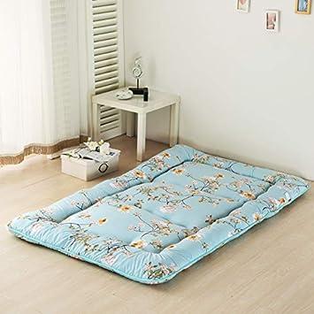 WENLONG Tatami - Colchón de Suelo para colchón Individual y Doble, Plegable, Muy Grueso