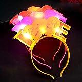 Jinjin El LED Fashion Glowing Hairband, Club Concert Light Up Bright Flash Glowing Hairband (Yellow)
