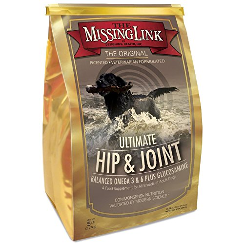 The Missing Link – Original All Natural Superfood Dog Supplement- Balanced Omega 3 & 6 Plus Glucosamine to support Mobility and Digestive Health