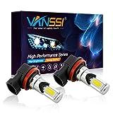VANSSI H8/H11/H16 LED Fog Lights Bulbs or DRL,3000K Golden Yellow(Pack of 2)