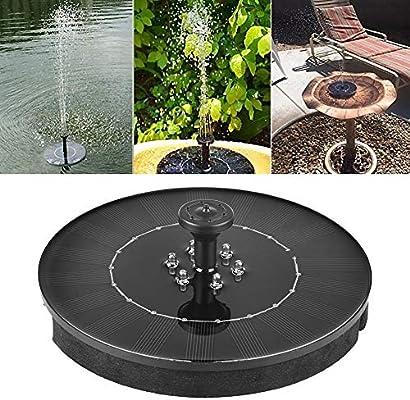 Sroomcla Fuente Solar, Bomba de Estanque Solar con Panel Solar de 2,4 W, Bomba de Agua Solar para pozos flotantes, Bomba de Pozo para Piscinas de jardín: Amazon.es: Hogar