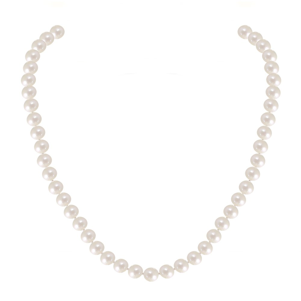 Buy Jewels 14k White Gold Round Hand Picked White Freshwater Cultured Pearl Necklace (18, 7.0-7.5mm)