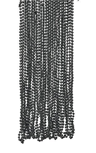 glossy-finish-black-beads-necklace-4-dozen-bulk