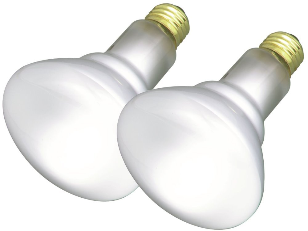 Satco 65BR30/FL/2PK Incandescent Reflector, 65W E26 BR30, 24 Frosted Bulbs by Satco (Image #1)