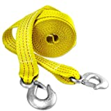 "Capri Tools CTW2-20 2"" x 20' Heavy Duty 10,000 lb Tow Strap with Hooks"