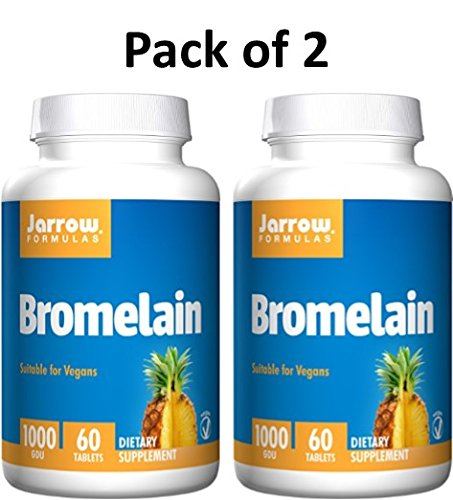 Jarrow Formulas Bromelain, Supports Protein Digestion and Joint Health, 1000 GDU, 120 Easy-Solv Tabs