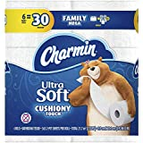 Charmin Ultra Soft Cushiony Touch Toilet Paper, 6 Family Mega Rolls