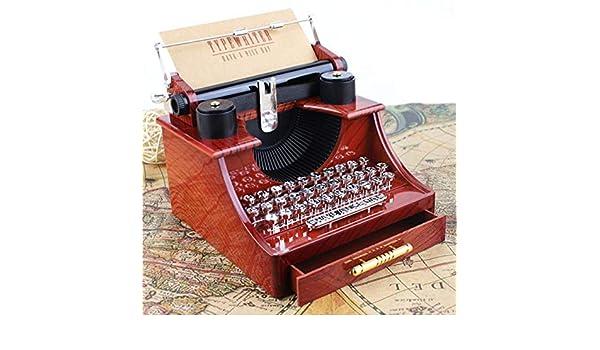 ParZ Caja de música de la máquina de Escribir de la Vendimia Cajas Musicales Antiguas plásticas para el Regalo de Boda del cumpleaños Decoración del Sitio ...