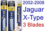 2002-2008 Jaguar X-Type Replacement Wiper Blade Set/Kit (Set of 3 Blades) (Goodyear Wiper Blades-Assurance) (2003,2004,2005,2006,2007)