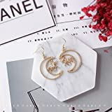 TKHNE Custom hand-made | on behalf moon destroy your girl Unicorn heart pierced earrings 925 gold-plated moon Harmonie