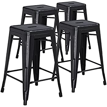 Amazon Com Amisco Station Metal Counter Stool In Semi