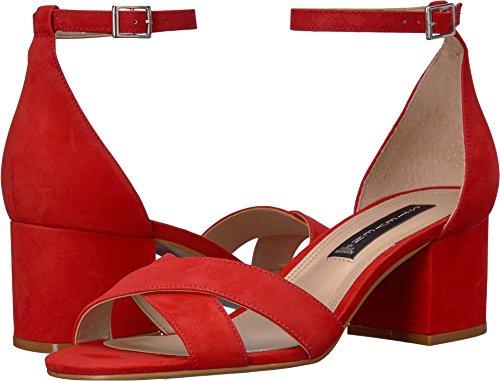 (STEVEN by Steve Madden Women's Ilka Heeled Sandal, red Nubuck, 6 M)