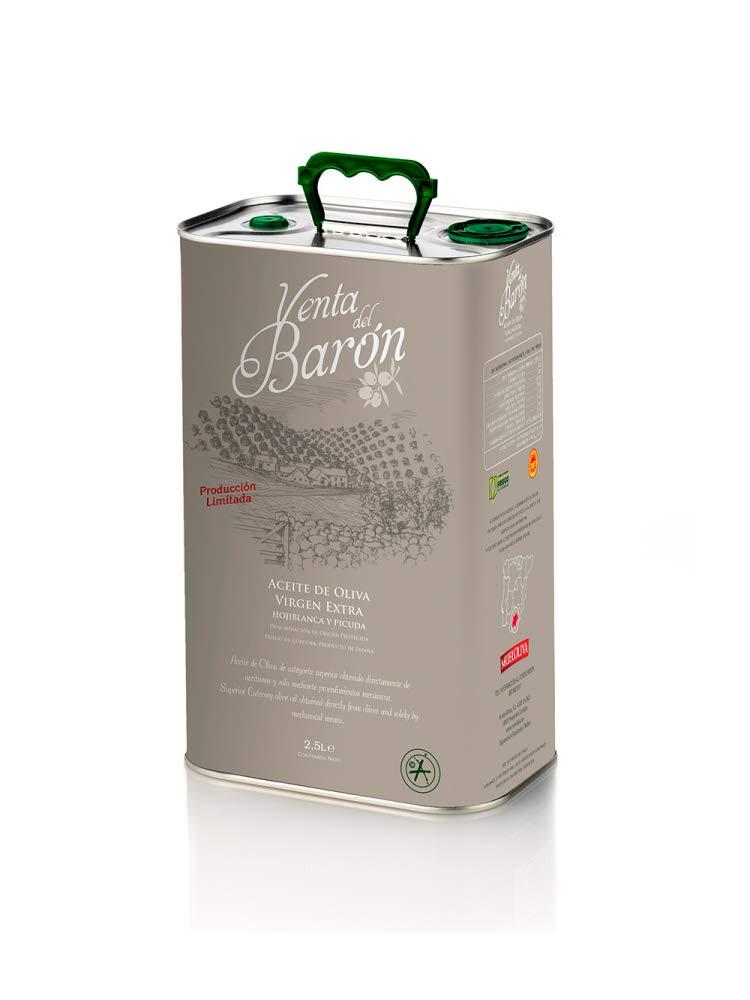 Venta del Barón - Aceite de Oliva Virgen Extra Variedad Hojiblanca y Picual - Denominación de Origen Priego de Córdoba - Formato Lata 2,5 litros: Amazon.es: ...