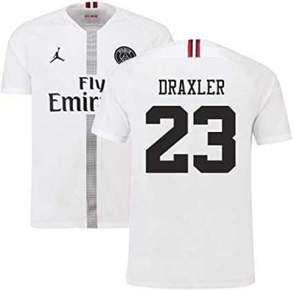 2018-19 PSG Third Football Soccer T-Shirt Maillot White Kylian Mbappe 7