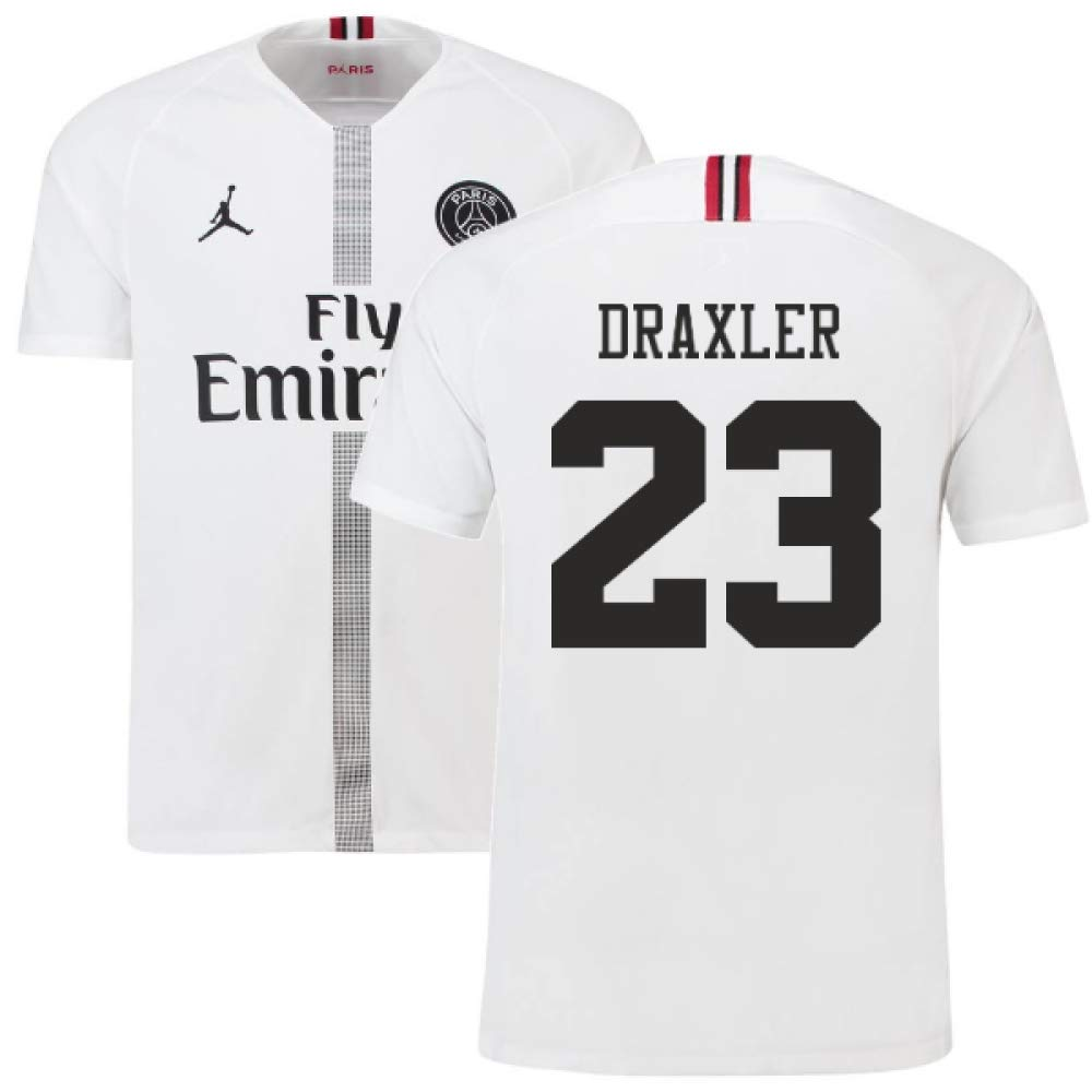 2018-19 PSG Third Football Soccer T-Shirt Trikot Weiß (Julian Draxler 23) - Kids