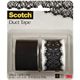 Scotch Duct Tape, Lace Vegas and Jet Black, 1.42-Inch by 5-Yard, 2-Roll