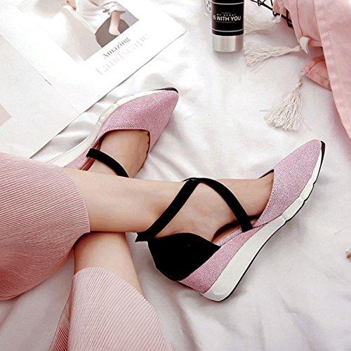 2 Donne Zeppa Zanpa Sandali pink Casual BUqczcnI