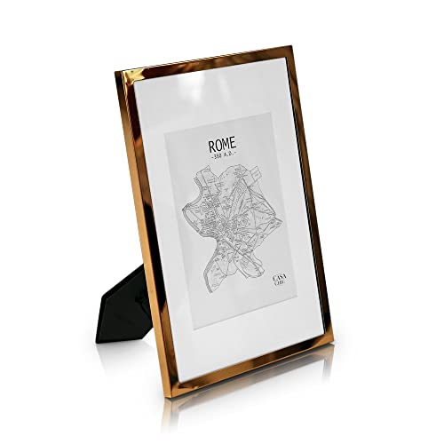 Elegance by Casa Chic Copper Plated Photo Frame - A4 Metal Frame ...
