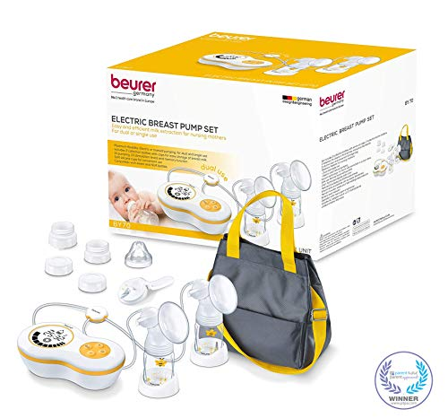 Beurer Electric Dual Breast Pump, Double Comfortable Pumping, Portable Strong Suction and Tote Travel Bag for Moms, - Breast Pump Travel Avent