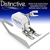 Distinctive Premium Open Toe Even Feed Walking Sewing Machine Presser Foot SA188 BONUS! Quilt Guide