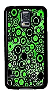 discount Samsung S5 covers Green Circles PC Black Custom Samsung Galaxy S5 Case Cover