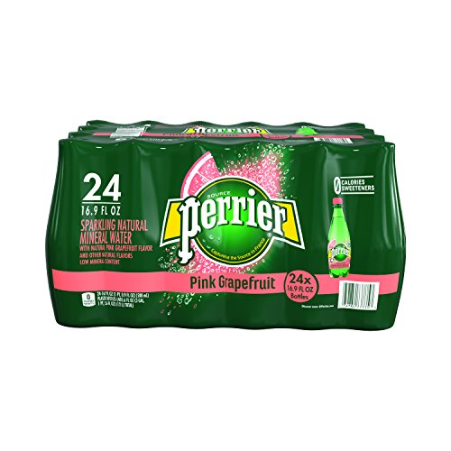 PERRIER Pink Grapefruit Flavored Sparkling Mineral Water, 16.9-Ounce Plastic Bottles (Pack of 24)