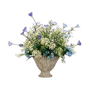 Snowball/Poppy/Queen Anne's Lace in Fan Shaped Vase 21