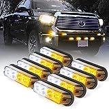 Xprite White & Amber Yellow 4 LED 4 Watt Emergency