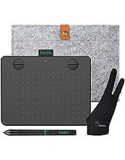 Mesa Digitalizadora Parblo A640 V2 Tablets de Design Gráfico Kit, com função de inclinação de Stylus sensibilidade de pressão de 8192 níveis 4 teclas expressas 6 x 4 polegadas portátil, preto