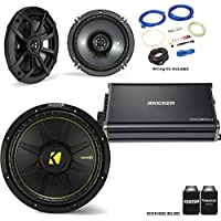 "Kicker 44CWCS124 12"" CompC Subwoofer 43CSC654 6.5"" CS-Series Speakers with 43CXA3004 CX-Series Amplifier and wire kit"