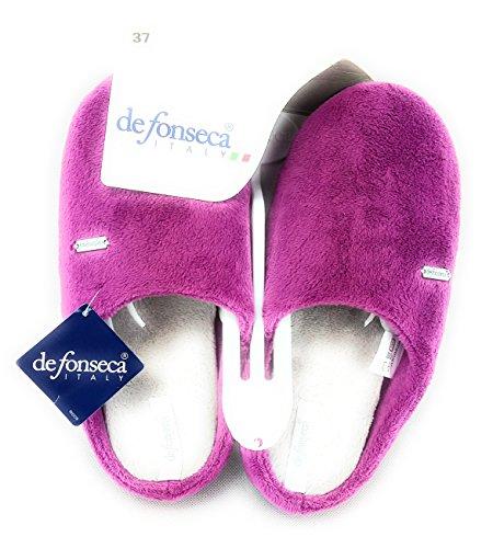DE FONSECA Pantofole ciabatte profumate donna in panno e fondo in gomma ORCHIDEA