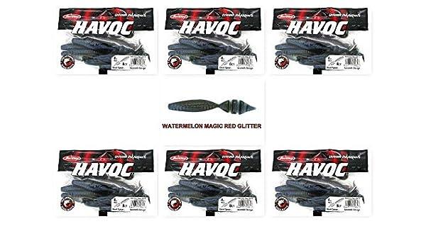 "Unopened Packs Berkley Havoc 4/"" Devil Spear Watermelon Magic Red Glitter New 6"